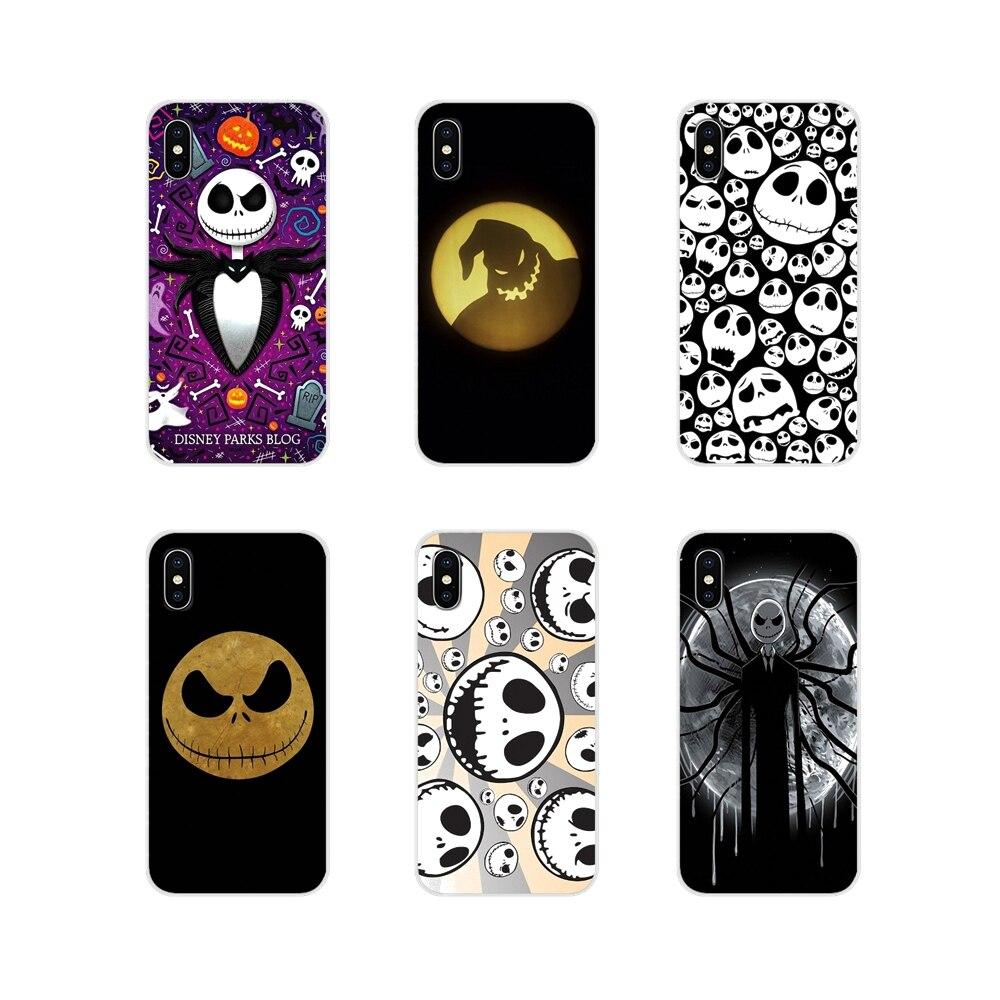 Jack skellington accesorios cubiertas de los casos del teléfono para Apple iPhone X XR XS 11Pro MAX 4S 5S 5C SE 6 6S 7 7 Plus ipod touch 5 6