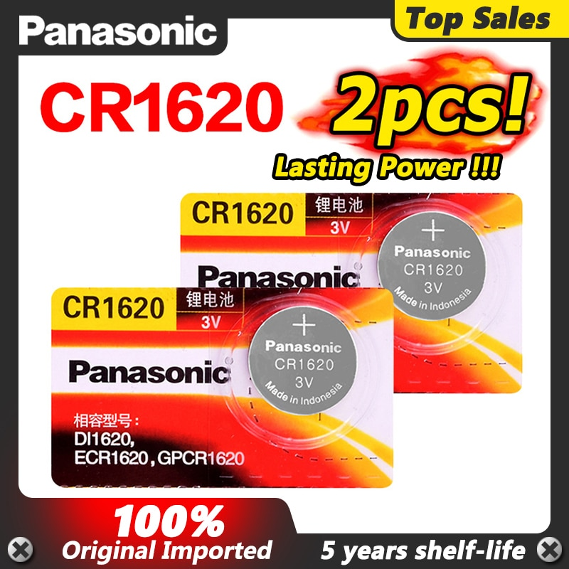2x panasonic cr1620 botão pilha moeda baterias cr1620 carro controle remoto alarme elétrico 3 v bateria de lítio para brinquedos led relógios
