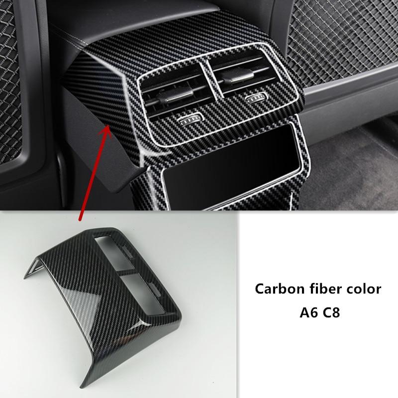 Auto Styling Console Achter Ventilatieopeningen Decoratieve Frame Gear Handrem Knop Cover Trim Sticker Voor Audi A6 C8 Interieur Accessoires