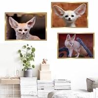 Peinture a lhuile animale bureau salon couloir decoration de la maison murale petit renard toile peinture
