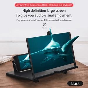 3D Phone Screen Magnifier Stereoscopic Amplifying 12 inch Desktop Foldable Bracket Mobile Phone Holder Tablet Holder