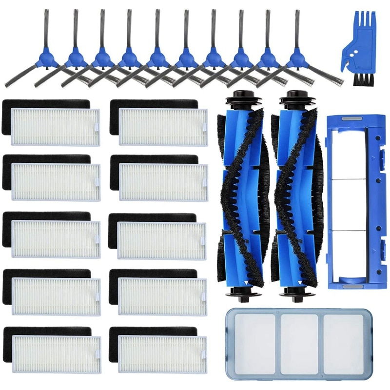 ملحقات قطع غيار 25-Pack متوافقة مع Eufy RoboVac 11S 15C 30 30C 12 35 cprime/filter ، فرش جانبية