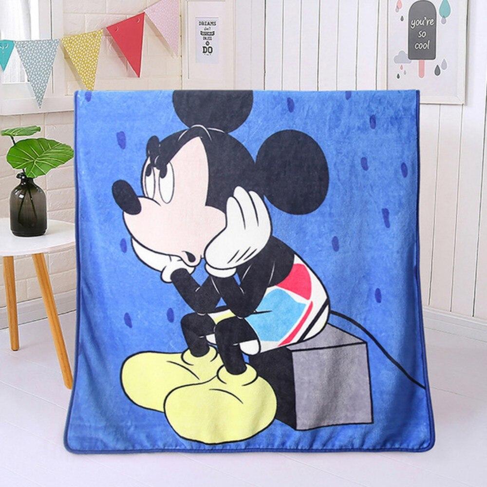 ديزني ميكي ماوس ميني بطانية سرير سرير غطاء أريكة الرجل العنكبوت الكرتون الوليد Enfants طفل أطفال فتاة بوي 100x140cm