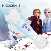 2020 nouveau 100% véritable Disney congelé 2 princesse Elsa Anna 66204 microphone de musique peut se connecter au téléphone
