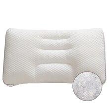 Oreiller Cervical orthopédique de Style japonais   Oreiller Cervical ergonomique 50*30CM de Style japonais, oreiller de cou ajustable en PE, housse en coton, oreiller de couchage