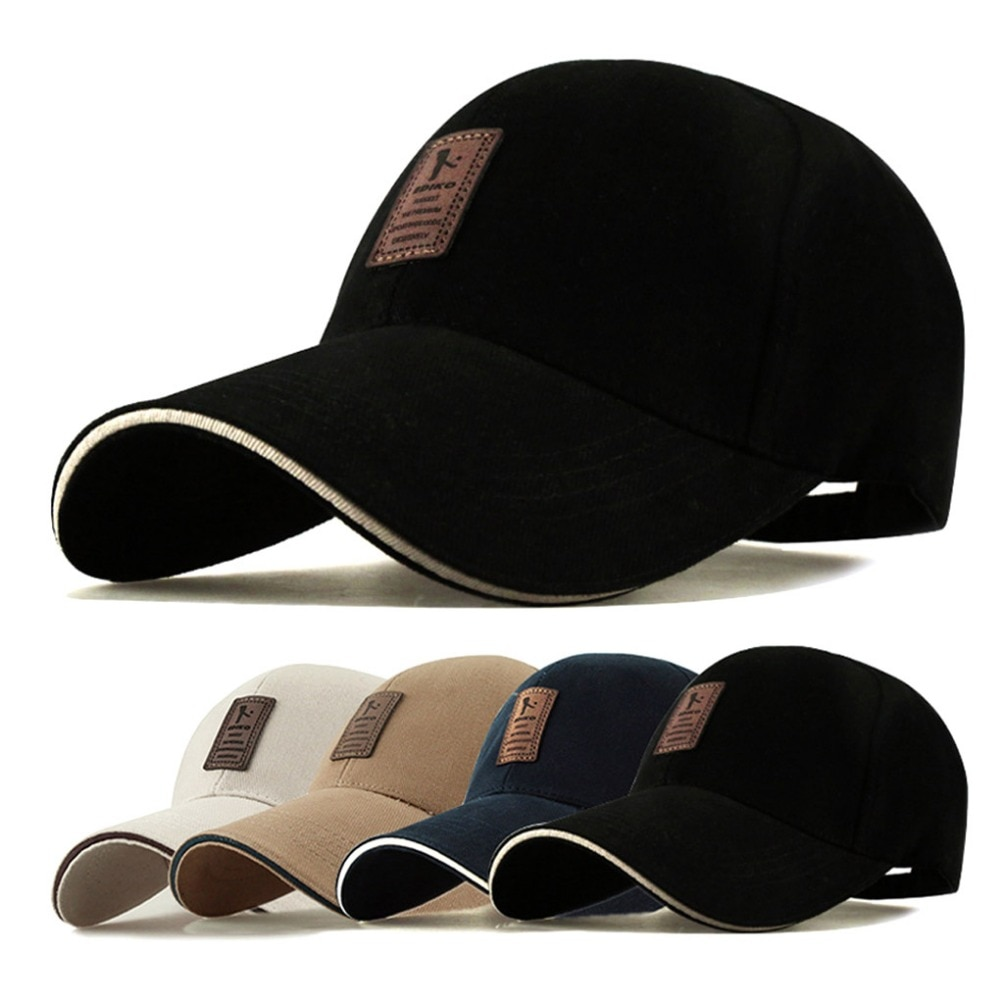 aorice new winter cotton cap genuine leather baseball cap hat men s real leather adult adjustable solid hats caps 3 colors hl132 Snapback Baseball Cap Hats for Men Cotton Casual Caps Fitted Belt Adjustable Soild Flat Print Dad Hat Winter Hat Cap