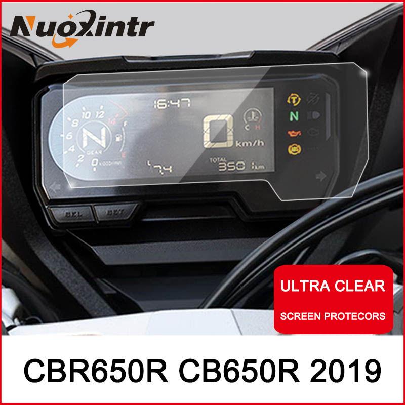 Nxuointr protección contra rayones de motocicleta instrumento de película de salpicadero protector de TPU Blu-ray para HONDA CBR650R CB650R 2019