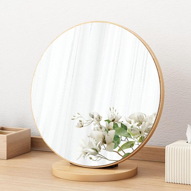 Miroir-Espejo decorativo para maquillaje, Mural De madera plegable, Retro