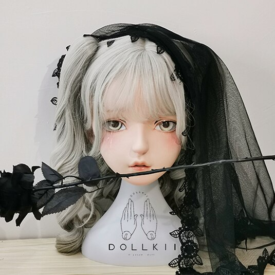 (Dollkii 15) الإناث فتاة السيليكا الراتنج تأثيري BJD عبر خلع الملابس Kigurumi رئيس قناع أنيمي لعب دور حزب كروسدرسر دمية قناع