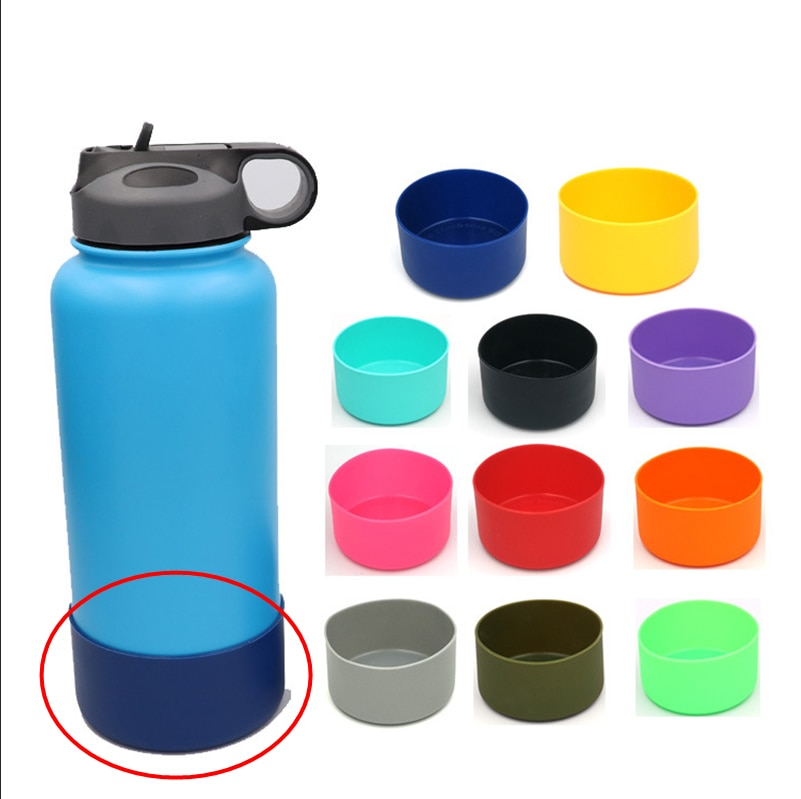 Slip-proof water bottle Silicone Bottle Boot Sleeve Anti-Slip Bottom Cover Anti Scratch Fit 32&40oz