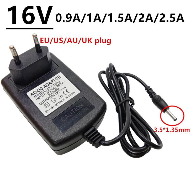 3,5*1,35 мм 16 В ac dc адаптер питания ac/dc адаптер 16 вольт конвертер переключения 0.9A 1A 1.5A 2A 2.5A adaptador