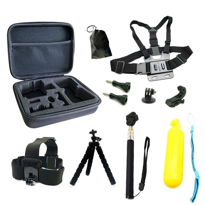 ملحقات الكاميرا الرياضية مجموعة ل Gopro بطل الأشرطة يتصاعد عمل الكاميرا ل SJCAM SJ4000 يي 4K EKEN H9R