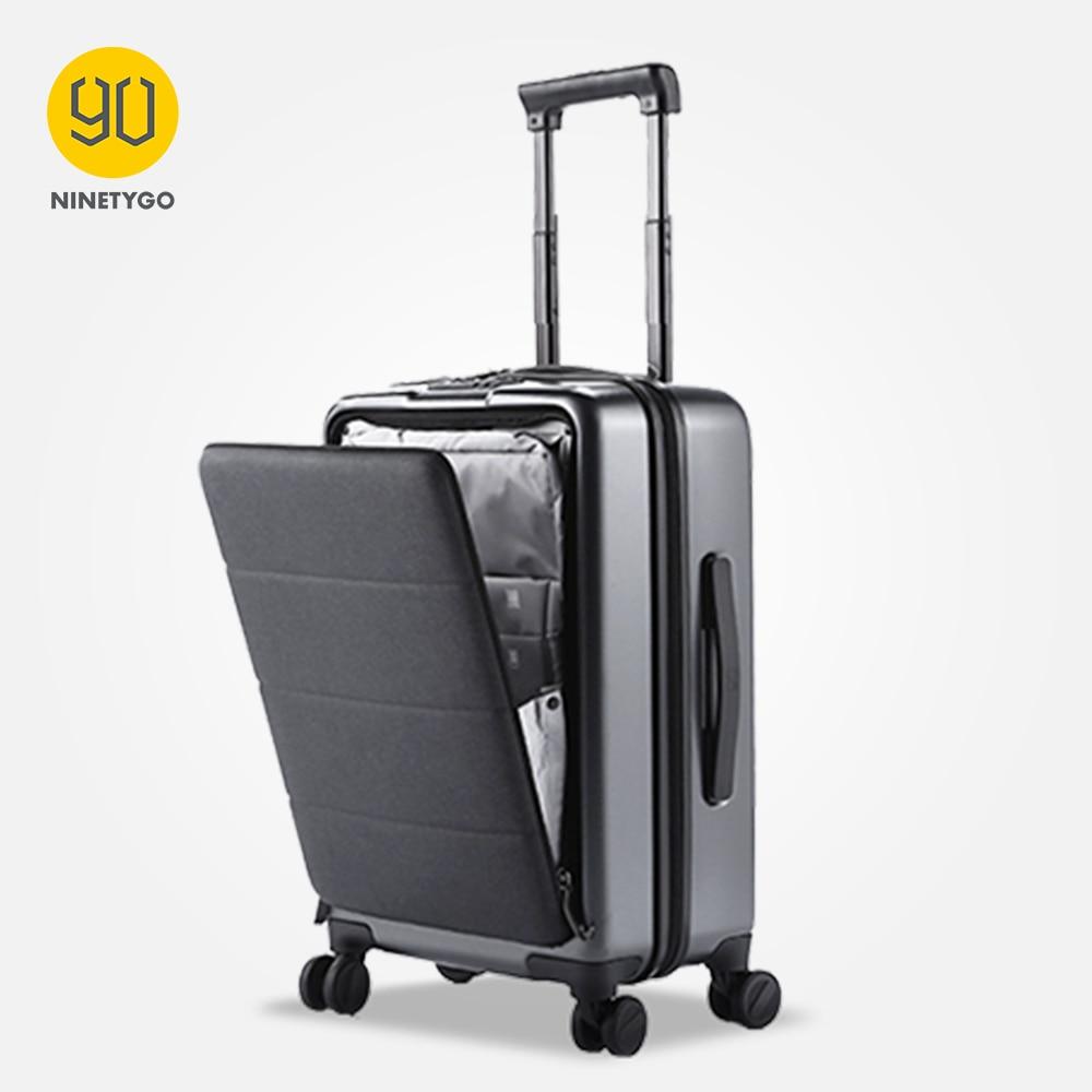 NINETYGO-حقيبة عمل مقاس 20 بوصة مع غطاء أمامي بعجلات دوارة ، غلاف صلب ، TSA ، 90