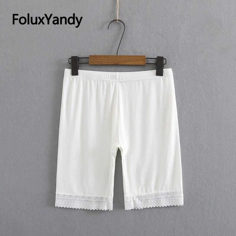 Кружевные безопасные шорты, женское интимное нижнее белье, тонкие дышащие безопасные шорты из модала, 4 цвета KKFY5539