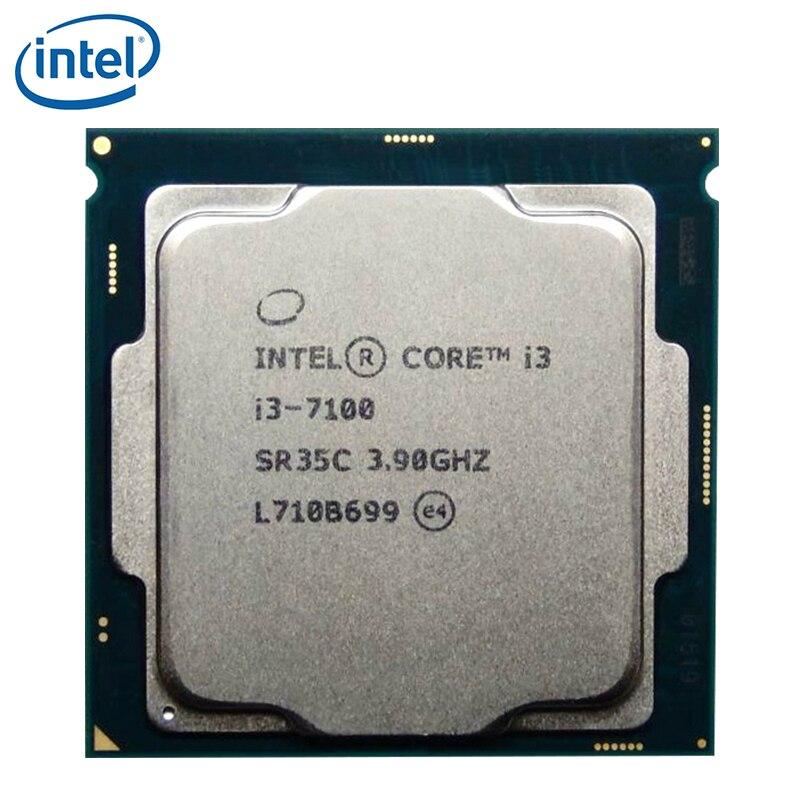 Procesador Intel Core i3 7100 I3-7100 CPU LGA 1151 14 nanómetro de doble núcleo i3-7100 probado 100% de trabajo