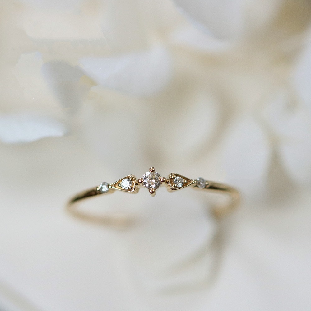 AliExpress - Retro 14k Gold Diamond Ring for Women Bizuteria Tail Engagement Banquet Anillos Rings Woman 14K gold Bizuterias Gemstone rings