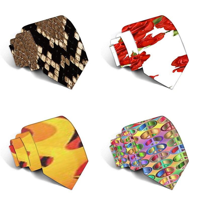 Модные забавные галстуки для мужчин, мультяшные новые галстуки, красочные галстуки с 3D принтом единорога, шейные галстуки, свадебный подаро...