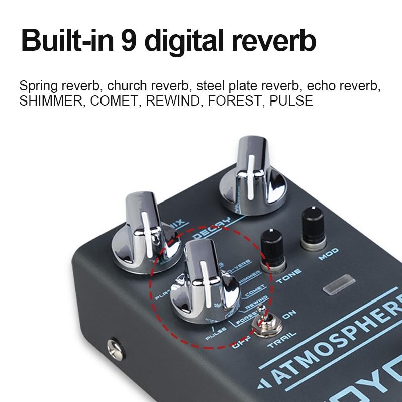 Atmosphere Mini Effects Reverberation Electric Guitar Effects Built In 9 Digital Reverbs Guitar Effects JOYO R14 enlarge