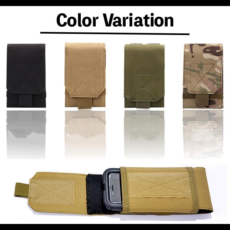 1000D Nylon Tactical Molle Cellphone Pouch Mobile Phone Holster Outdoor Running Hunting Belt Waist Pack Bag Case Holder