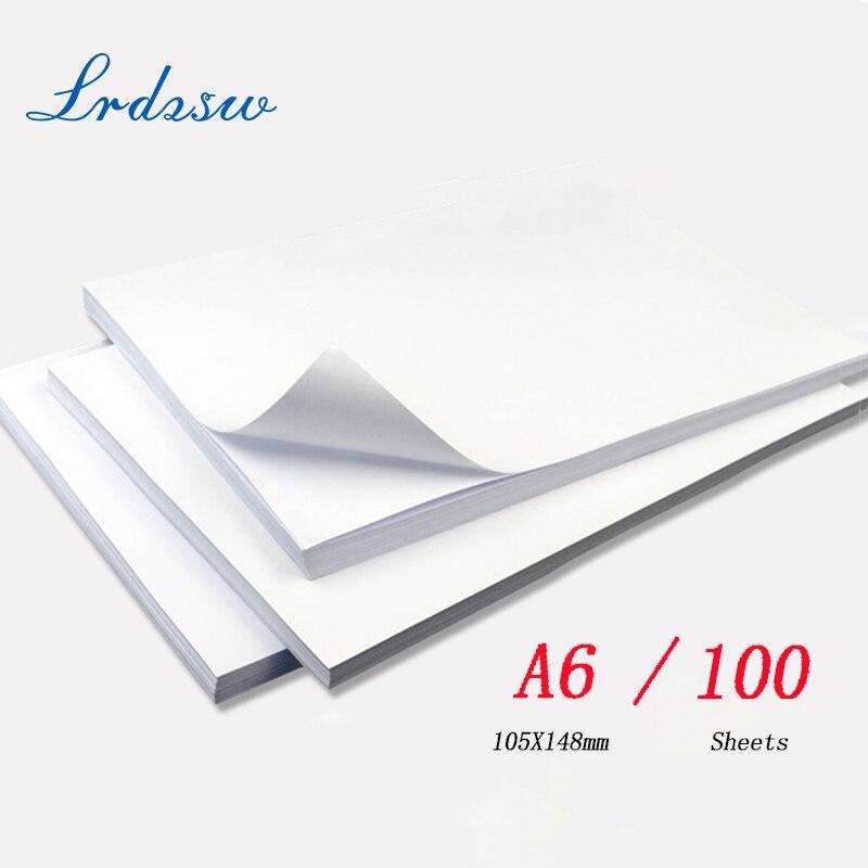 A6 100sheets135g 150g impresión autoadhesiva de inyección de tinta de alto brillo con adhesivo posterior papel fotográfico