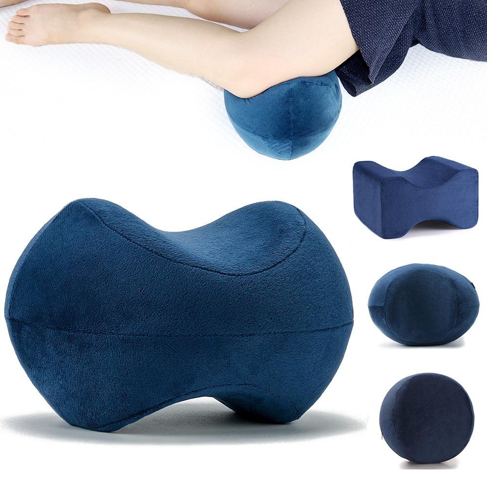 Almohada ortopédica de espuma viscoelástica para dormir, cojín de soporte para rodilla, ciática, alivio del dolor articular de cadera y espalda