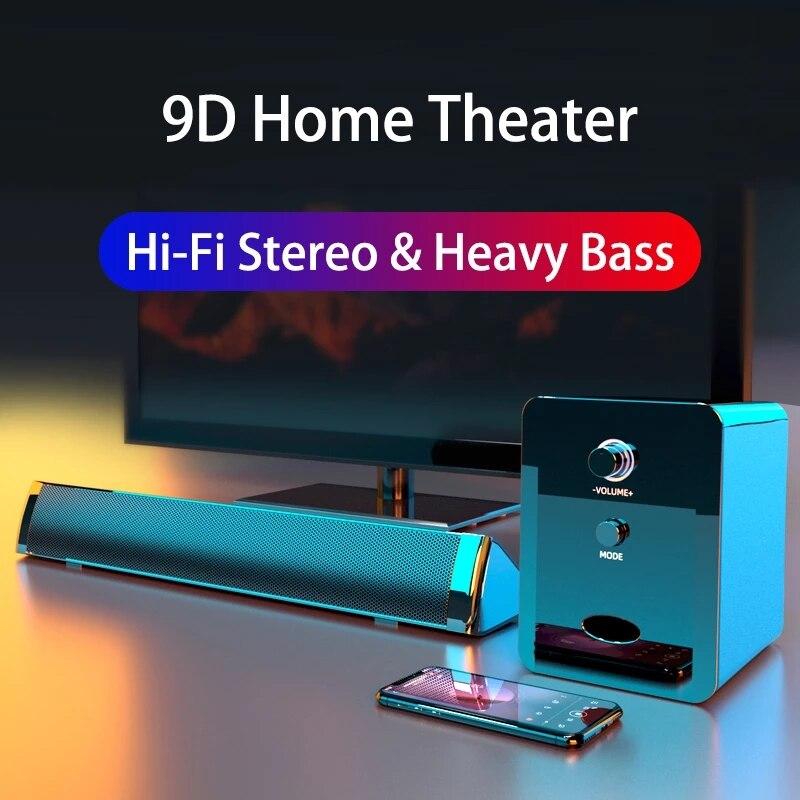 Barra De Sonido Para cine en casa, Altavoz con Bluetooth y Subwoofer,...