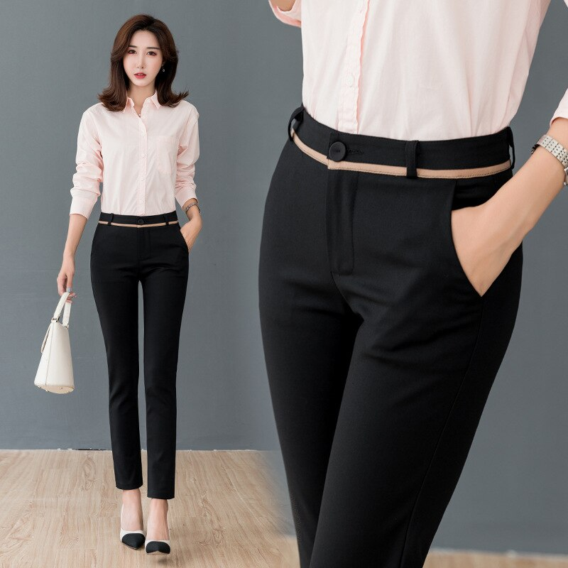 Pantalones de mujer 2020 nueva tobillo longitud Capris mujer Oficina pantalón de...