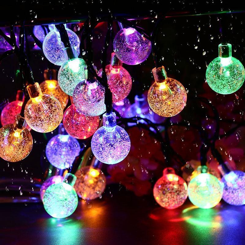 Уличная Светодиодная лампа на солнечной батарее, новый год 2022, сказосветильник огни, рождественские украшения для дома 2021, праздничное садо...