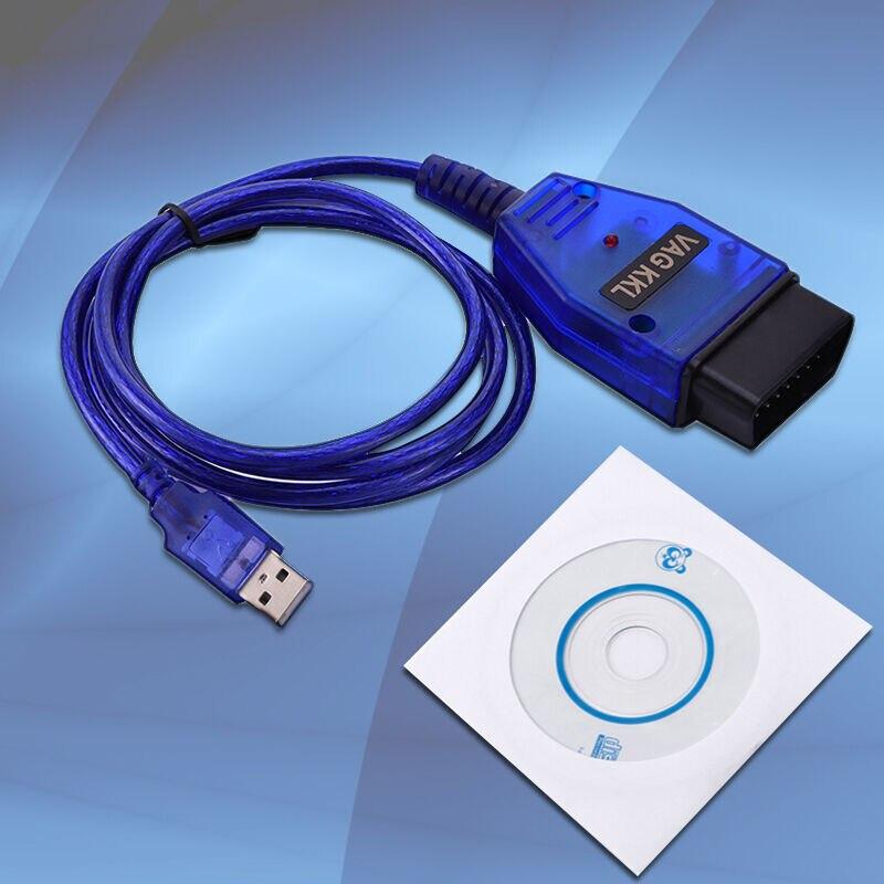Usb-kabel Kkl VAG-COM 409.1 Voor OBD2 Ii Diagnose Scanner Vw/Audi/Seat Laptop Of Pc Software Drive