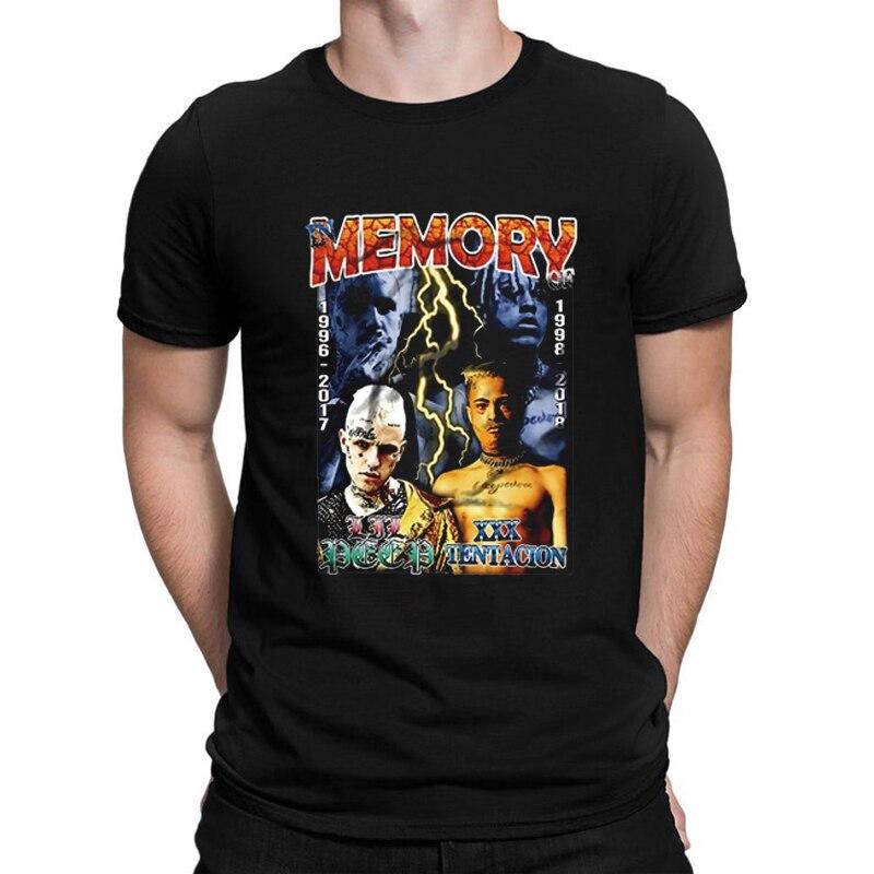 Camiseta cómoda de algodón con cuello redondo para hombre de verano a la moda Lil Peep Merch, camiseta informal para hombre, ropa de manga corta