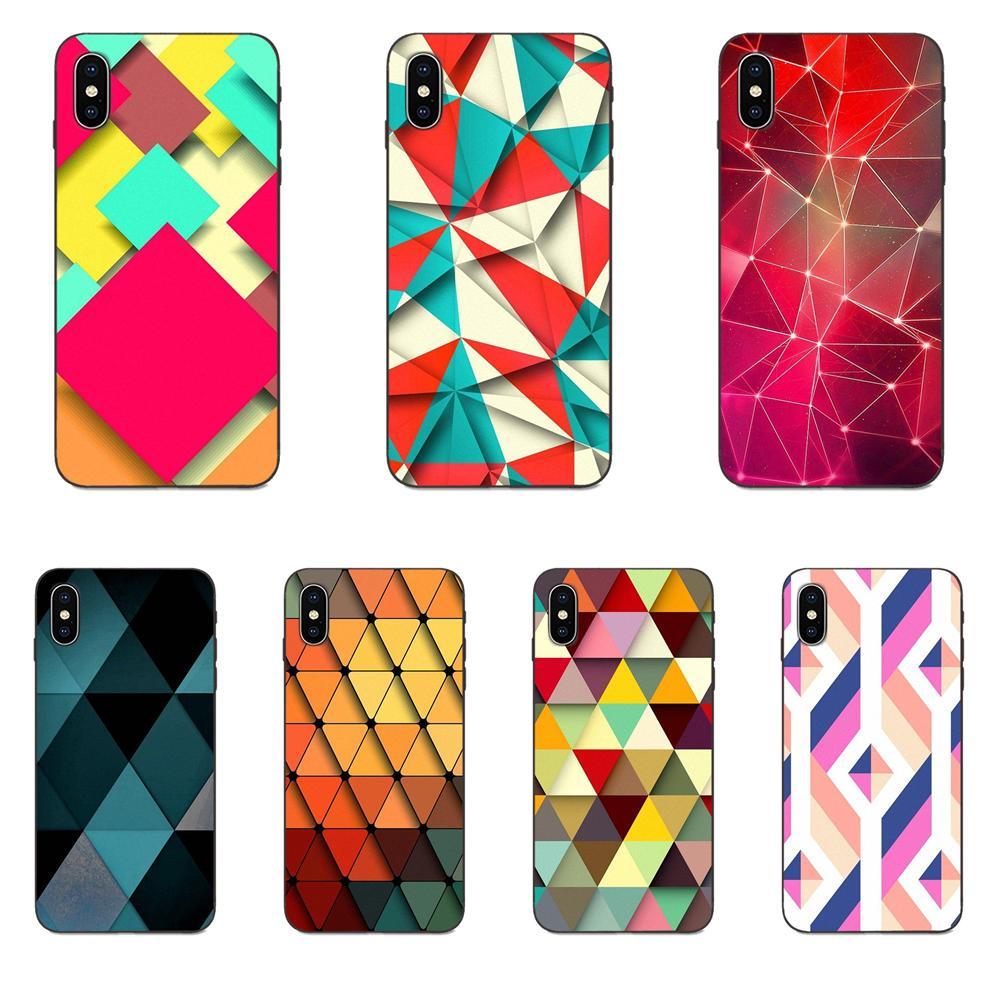 Abstracto geométrico triángulos para Huawei nova 2 2S 3i 4 4e 5i Y3 Y5 II Y6 Y7 Y9 Lite Plus el primer Pro 2017 de 2018 de 2019 suaves