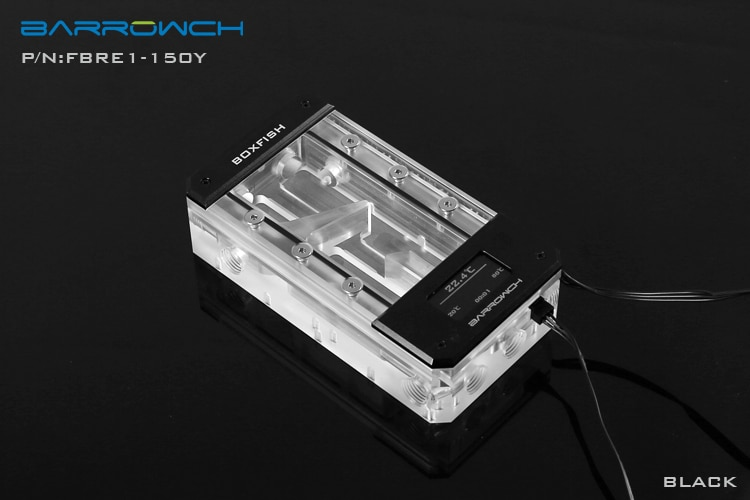 Barrowch FBRE1-Y, BoxFish Reservoirs, LRC 2.0, Acrylic Space Smart Digital Reservoirs, Real-time Temperature enlarge