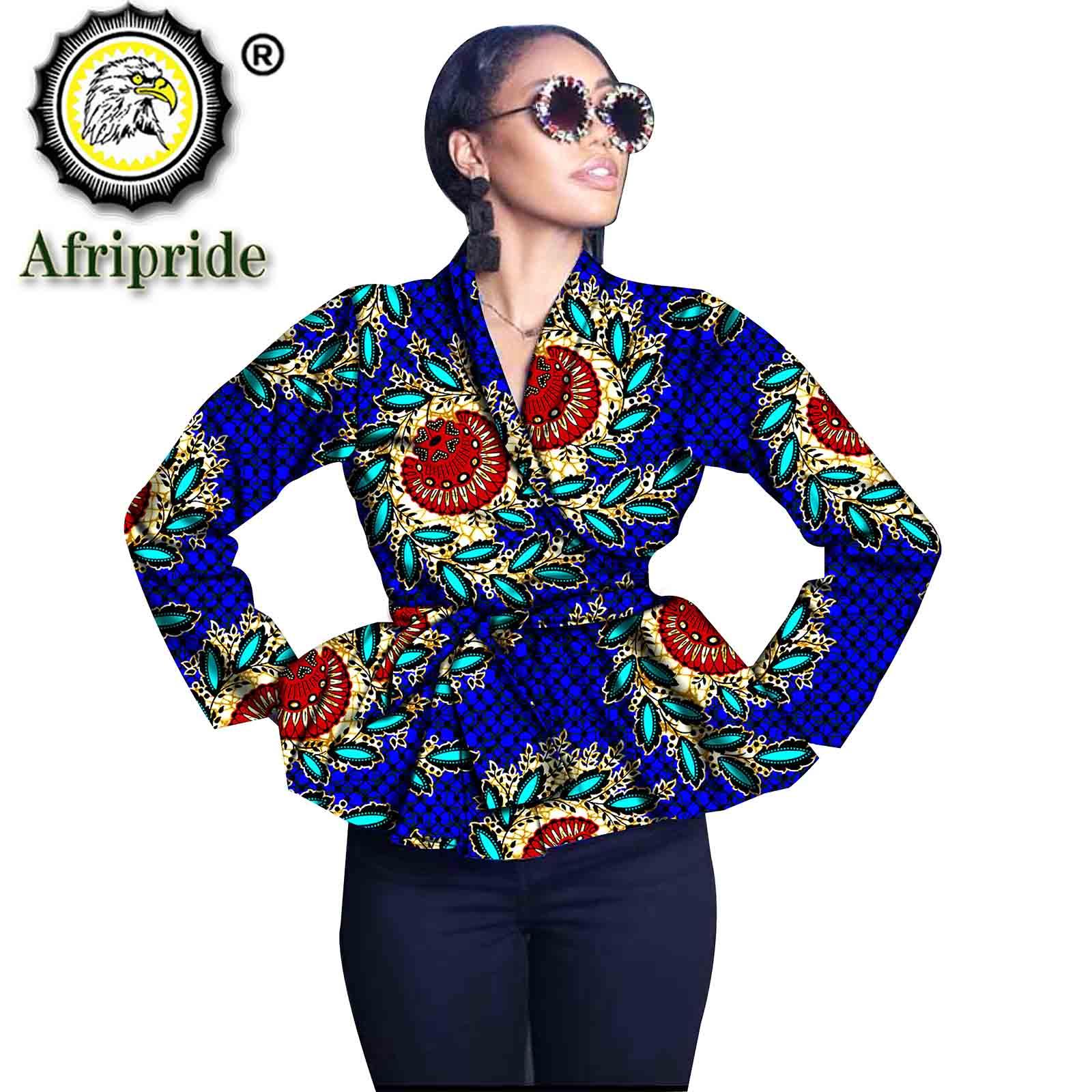 ملابس أفريقية للنساء ، معاطف عصرية ، طباعة Dashiki ، أكمام طويلة ، ملابس خارجية ، بازان غني ، مقاس كبير ، فستان أنقرة S2024019