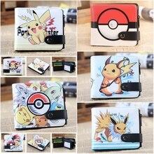 Anime Cartoon Casual Wallet Pokemon Pikachu One Piece Naruto Totoro Death Note Button Short Boys Girls Photo Card Holder Purses