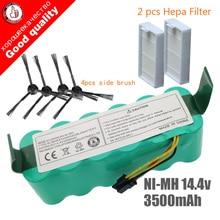 Комплект с аккумуляторной батареей для пылесоса, 7 комплектующих, батарея NI-MH 14,4 В 3500 мАч, подходит для Panda X500, Ecovacs Mirror CR120, Dibea X500, X580, X600