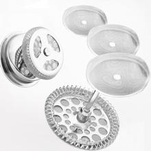 Suministros de cocina de acero inoxidable reutilizable, cafetera francesa con filtro de malla desmontable, herramienta de café con filtro, 3 uds.