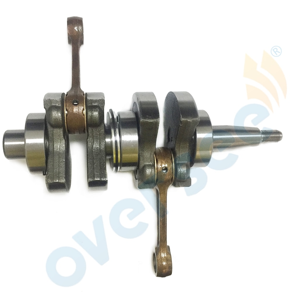 Marine Crankshaft Assy 6B4-11400-00 For 2 Stroke 9.9HP 15HP Yamaha Outboard Parsun T15D 6B4-11400 enlarge
