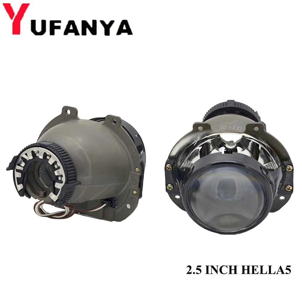2.5 Inch Hella 5 Car Bi Xenon Hid Projector Lens Metal Holder D1S D2S D3S D4S Hid Xenon Kit Headlight Car Headlight Retrofit