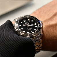 Seamaster 300 men\'s mechanical watch James Bond automatic mechanical watch steel strap waterproof luminous watch