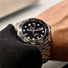 Seamaster 300 men's mechanical watch James Bond automatic mechanical watch steel strap waterproof lu