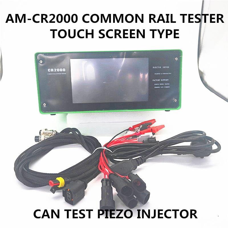 AM-CR2000 tipo de pantalla táctil sobre las de carril común de combustible diesel piezo inyector probador para BOSCCH DENSSO DELPHI SIMMENS