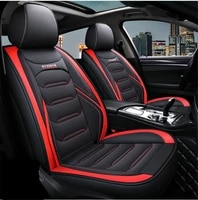 car sear cushion cover pu leather full set 5 seats protection fashion trim