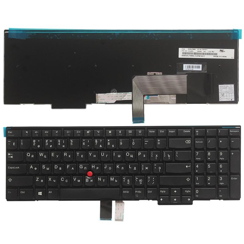 كمبيوتر محمول جديد لوحة المفاتيح الروسية لينوفو IBM ثينك باد W540 W541 W550s T540 T540p T550 L540 Edge E531 E540 RU الأسود لا الخلفية