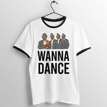 Black Trim Unisex T Shirt Coffin Dance Dancing Pallbearer Artwork Printed Tee