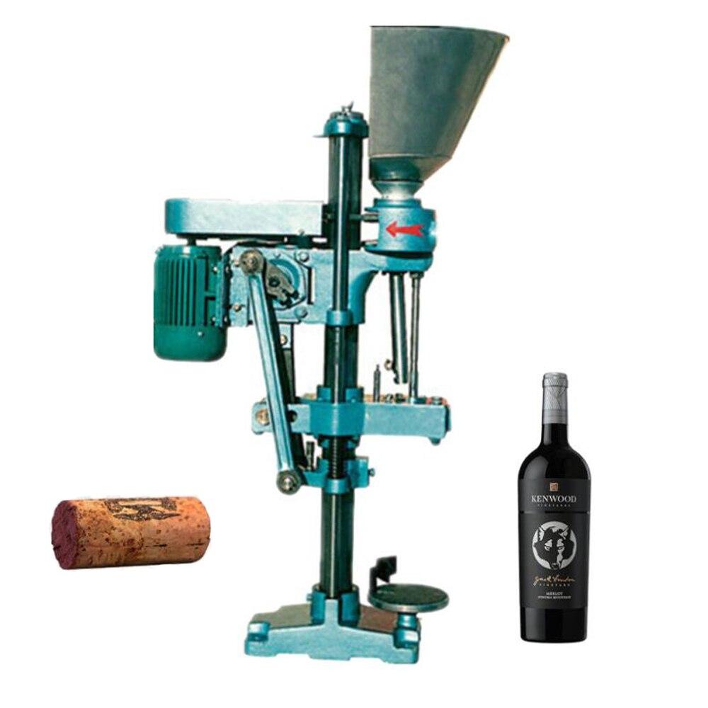 شبه التلقائي زجاجة الفلين السد آلة التلقائي تغذية زجاجة نبيذ Corker