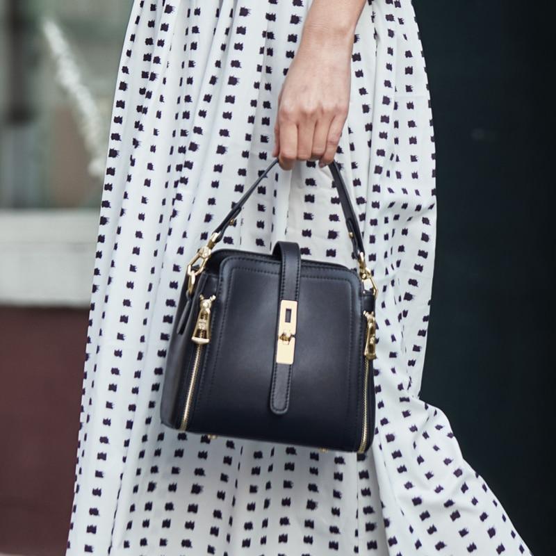 ZOOLER 2020 woman leather bags women Bucket bag luxury handbags genuine leather shoulder bags designed tote bolsos #HS226