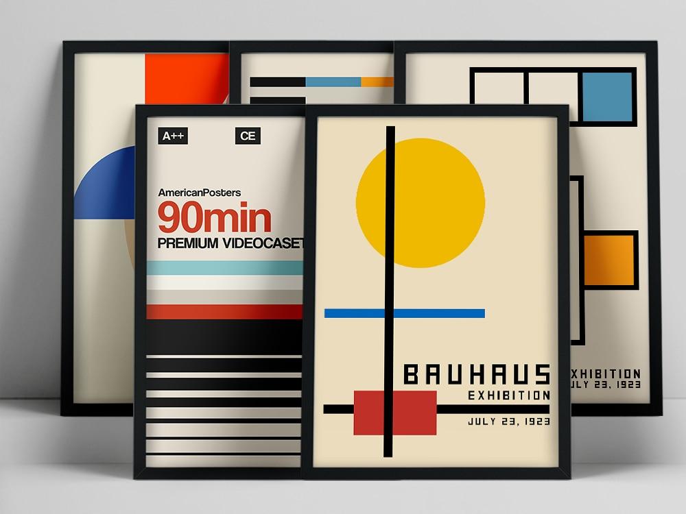 Плакат по лестнице Bauhaus, Weimar 1923, выставочная печать Bauhaus, плакат Herbert Bayer, печать Bauhaus, Waln, Художественная печать Warhol