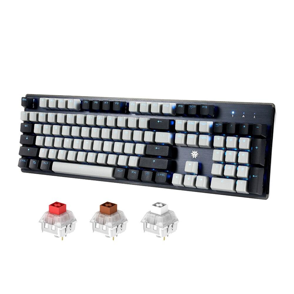 Hexgear GK715S الساخن تبديل لوحة المفاتيح الميكانيكية مع واحد الخلفية 104 مفتاح مقاوم للماء PBT كيكابس الألعاب لوحة المفاتيح ل Win/Mac