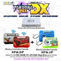 pandora box dx 3000 in 1 4p controller set wireless and wired controller can 3p 4p game plug and play 3d tekken killer instinct