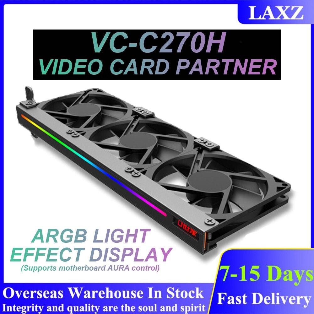 العالمي ARGB GPU مروحة التبريد مزامنة الإضاءة 5 فولت 3Pin عنونة RGB الديكور PCI بطاقة جرافيكس خادم عنيف مروحة التبريد عدة